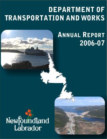 Department of Transportation and Works Annual Report 2006-07