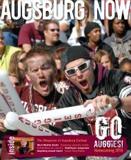 this PDF for more - Augsburg College