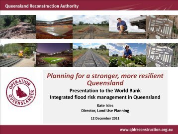 Planning for a stronger, more resilient Queensland - International ...