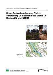 Biber-Bestandeserhebung Zürich. Verbreitung und Bestand ... - CSCF