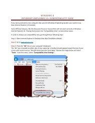 WINDOWS 8 INTERNET EXPLORER 10: COMPATIBILITY VIEW