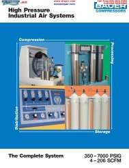 High Pressure Industrial Air System - D.R. Guilbeault Air Compressor