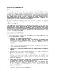 Terma dan Syarat UOB ONE Card - United Overseas Bank Malaysia
