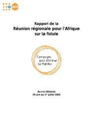 Réunion régionale pour l'Afrique sur la fistule - Campaign to End ...