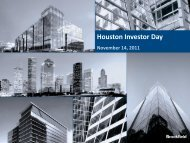 Houston Investor Day - Brookfield Properties