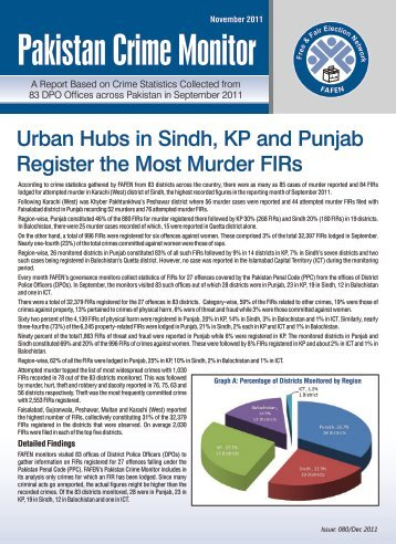 Pakistan Crime Monitor - FAFEN