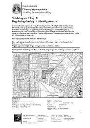 Seilduksgata 25 og 31 Reguleringsforslag til offentlig ettersyn - Plan