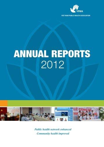 Annual Report 2012 - World Federation of Public Health Associations