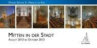 Mitten in der Stadt - 3/2013 - Offene Kirche Sankt Nikolai zu Kiel