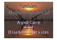 Rumbalara Aged Care & Disability Services, Victoria - NCOSS