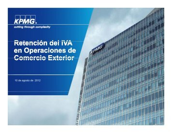 R t ió d lIVA Retención del IVA en Operaciones de Comercio Exterior