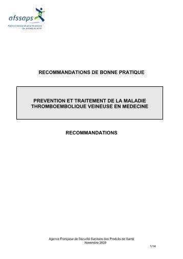 RBP/ Prévention et traitement de la maladie - GEHT