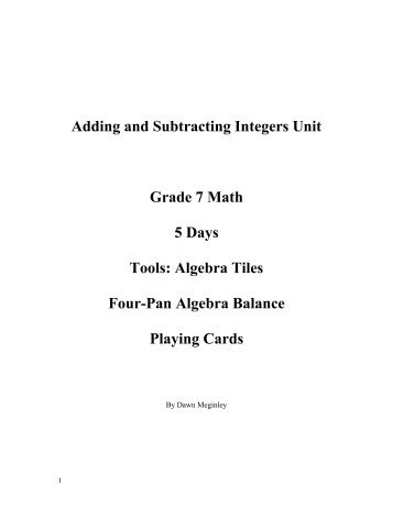 adding and subtracting integers worksheets grade 7 printable integer worksheets free. Black Bedroom Furniture Sets. Home Design Ideas
