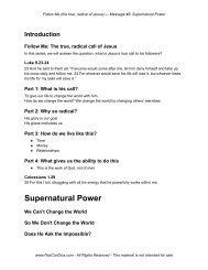 Supernatural Power - PazConDios