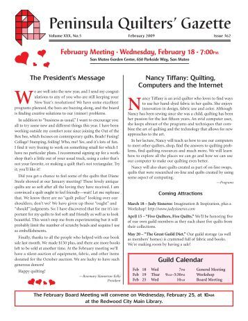 Peninsula Quilters' Gazette - Peninsulaquilters.org