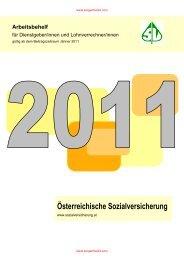 Arbeitsbehelf der Sozialversicherung 2011 - Sorgenfrei24