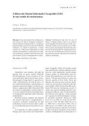 Utilizzo dei Sistemi Informativi Geografici (GIS) - Biologiavegetale ...