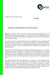 Gütezeichen Industrieanlagenservice schafft Transparenz - WVIS ...