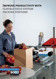 Read more about our flexible packing stations. - Soco Systems
