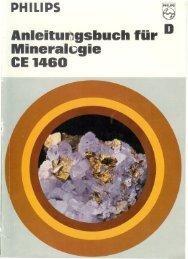 Anleitungsbuch für Mineralogie CE 1460 - Philips