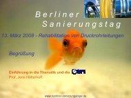 13. März 2008 - Berliner Sanierungstage