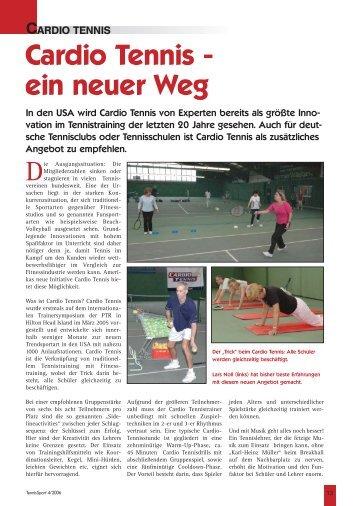 Cardio Tennis - Ein neuer Weg | TennisSport 4 ... - Tennis in Worms