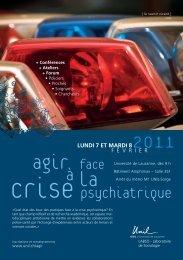 Programme flyer - Université de Lausanne