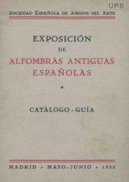 EXPOSICIÓN ALFOMBRAS ANTIGUAS ESPAÑOLAS
