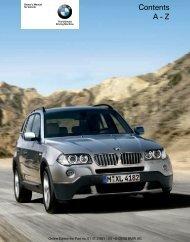 2009 X3 Owner's Manual - Irvine BMW