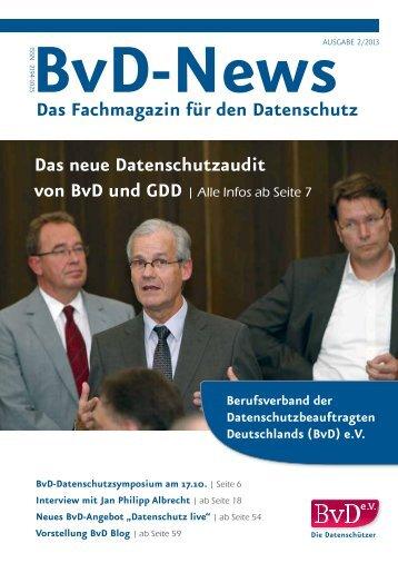 BvD News 2013/2 - BvD eV