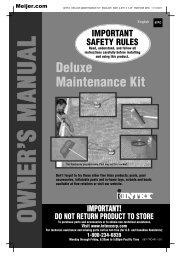 product manual for Intex Rectangular Pool Maintenance Kit ... - Meijer