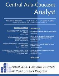 Erica Marat - The Central Asia-Caucasus Analyst