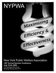 Maximizing Efficiency & Effectiveness - New York Public Welfare ...