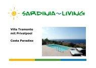 Villa Tramonto mit Privatpool Costa Paradiso - Sardinia Living
