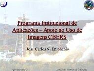 Apoio ao Uso de Imagens CBERS - INPE/OBT/DGI