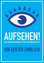 Sommerfestival Handout - City Vereinigung Zürich
