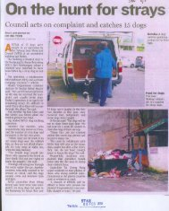 On the hunt,for strays. - MPSJ - Majlis Perbandaran Subang Jaya