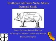 Northern California Niche Meats Demand Study - University of ...
