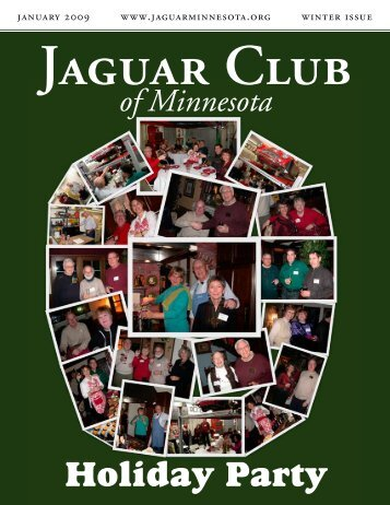 Winter Quarter Newsletter - January, 2009 - Jaguar Club of Minnesota