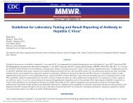 Guidelines for Laboratory Testing and Result Reporting of Antibody ...