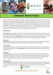 Zimbabwe: Harare Project - Mission Travel