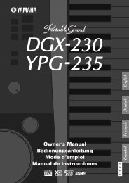 DGX-230/YPG-235 Owner's Manual - Yamaha Downloads