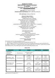 Prestazioni ambulatoriali sede di Oleggio - ASL 13 Novara