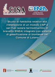 Studio di fattibilità relativo alla installazione di un ... - Centro CISA
