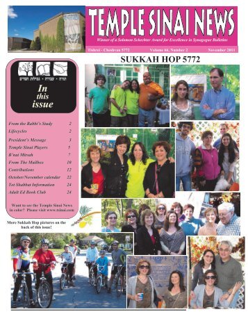 October 2011 PDF - Temple Sinai