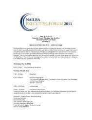 May 18-19, 2011 Executive Forum - Thursday, May 19 ... - Nailba
