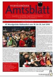 47. Wernigeröder Rathausfest vom 18. bis 20. Juni 2010