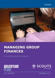 managing group finances - Region 1 Scouting - SCOUTS New ...