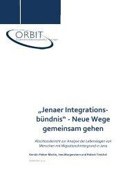 """""""Jenaer Integrationsbündnis"""" - Neue Wege gemeinsam gehen - ORBIT"""