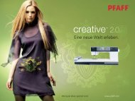Prospekt Pfaff Creative 2.0 - Nähmaschinen